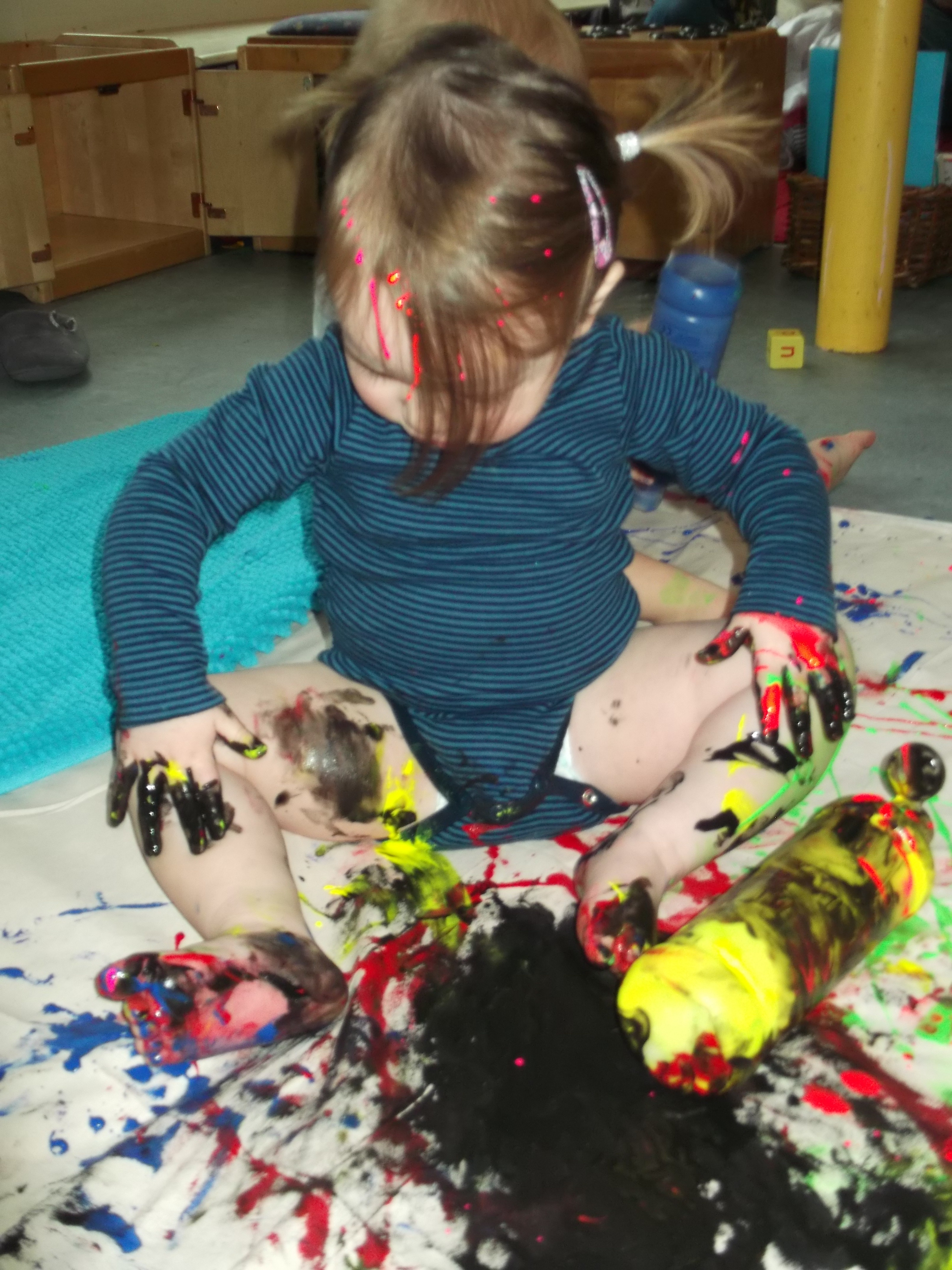 Messy Play in the Babies Room