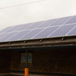 We are now producing electricity with our solar panels!